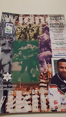 Widnes Vikings v Keighley Cougars programme 9.4.2000