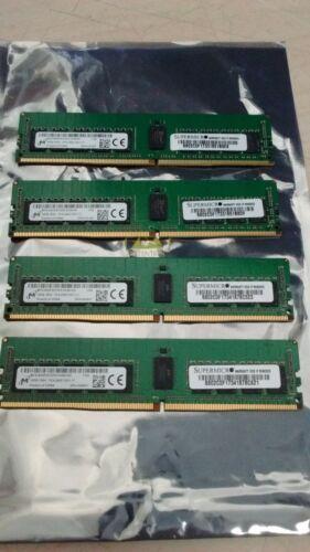 64GB 4 X 16GB   Supermicro/Micron PC4-2400T  ECC REG Server MTA18ASF2G72PZ
