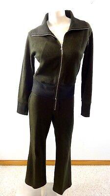 Damen Athletic-hose (Isda & Co DAMEN Dunkel Olivgrün Baumwolle Athletic Hose Trainingsanzug)