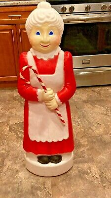 "VINTAGE DON FEATHERSTONE 41"" MRS. CLAUS CHRISTMAS BLOW MOLD"