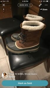 Sorel Winter Boots Mens 10