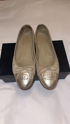 Chanel Womens Ballet Flats Shoes (Size 41 / 10 US)
