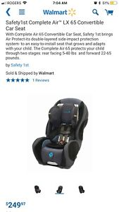 Safety 1st Complete Air LX65 Convertible Car seat