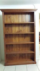 Beautiful 5-shelf Wooden Bookcase Nerang Gold Coast West Preview