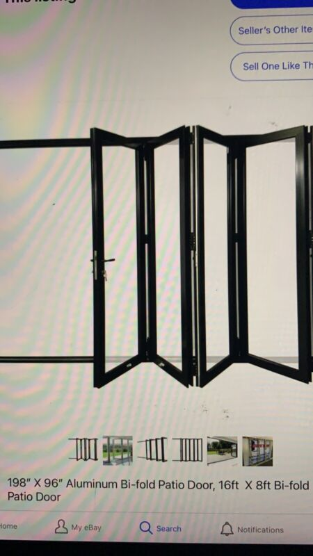 Aluminum Bifold Multi Fold Patio Door - 96x80. In stock Pickup Or Delivery