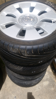 Audi a 6 mag wheels with tyres  235 40 17