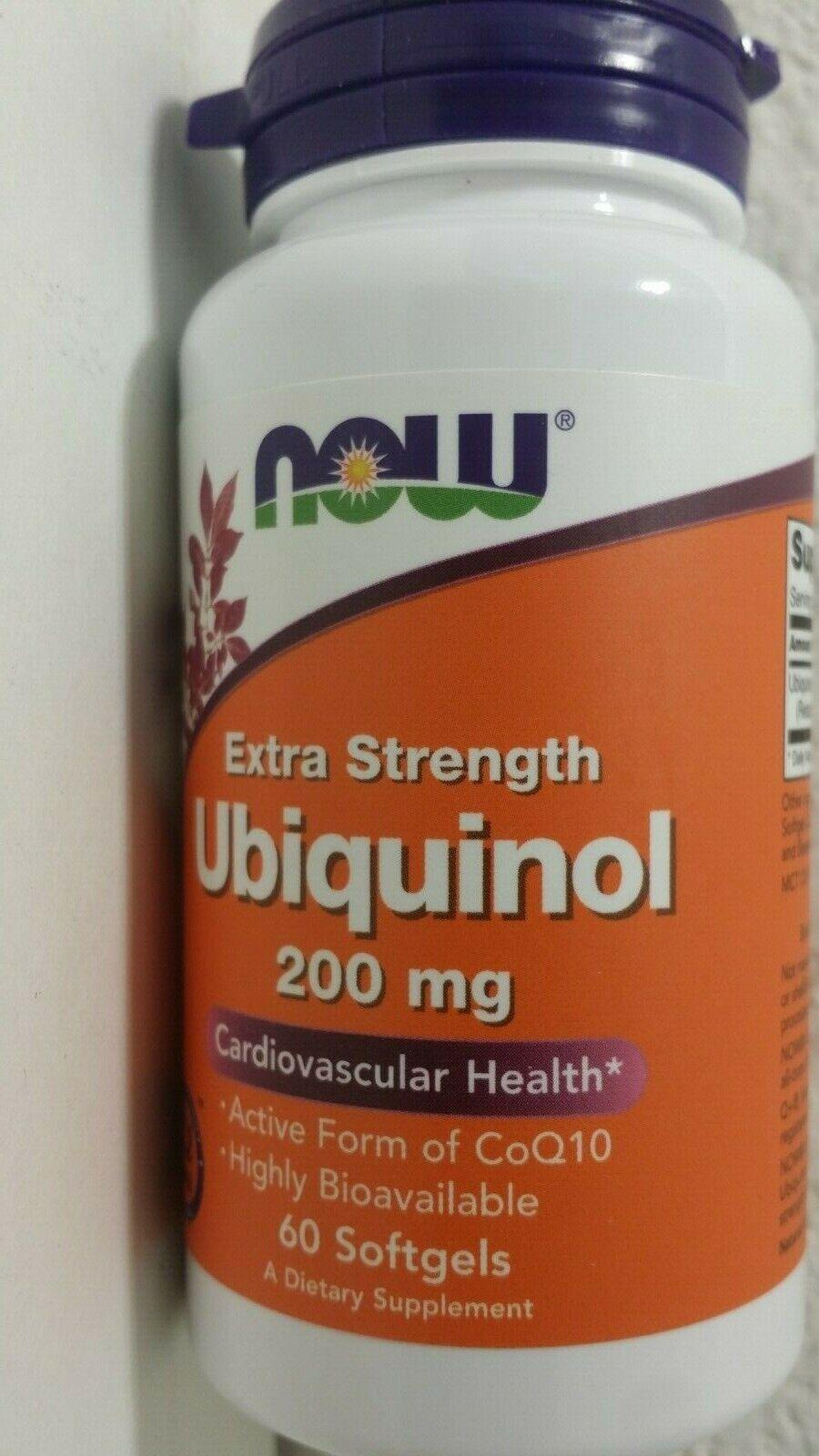 NOW Ubiquinol 200 mg,60 Softgels