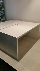 White Solid Timber Desks Glen Alpine Campbelltown Area Preview
