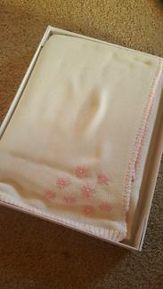 Organic cotton pink girls baby blanket