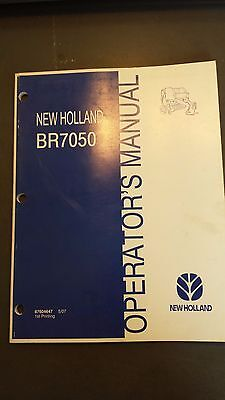 New Holland Br7050 Round Baler Operators Manual