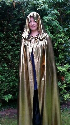 HALLOWEEN  MEDIEVAL WITCH VAMPIRE  TWILIGHT WEDDING HOODED CAPE  SIZE 14-18 NEW