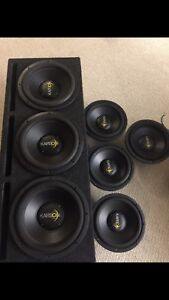 "7 12"" kaption audio subs"