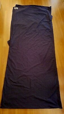 COCOON Travel Sheet 100% Cotton Flannel Dark Blue with Carry Bag Pre-owned Cocoon Cotton Travel Sheet