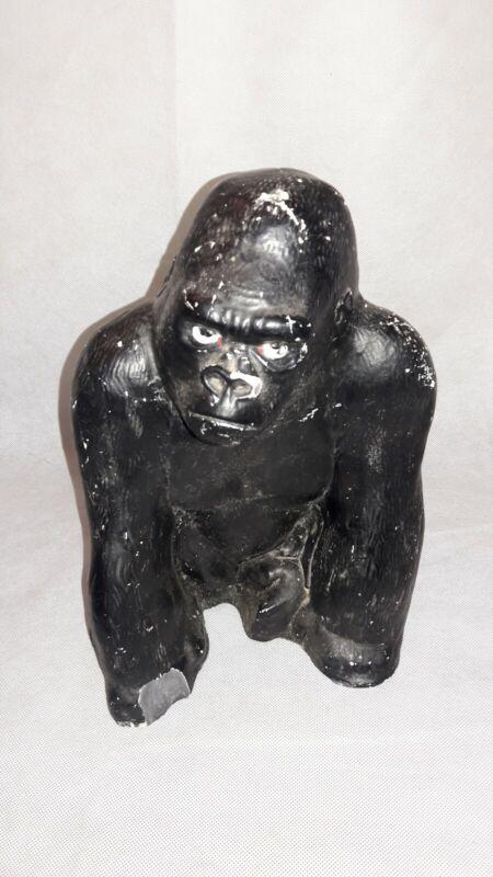 """Mid Century, MCM,  Ceramic Gorilla, Ape,  Piggy Bank, 11"""" Height"""
