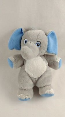 Blue Elephant Stuffed Animal (Garanimals Gray Blue Elephant Plush Stuffed Animal 8