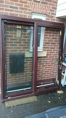 Upvc Mahogany Patio Doors With Frame