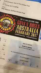 Guns N Roses Sydney tickets x 3 Waterloo Inner Sydney Preview