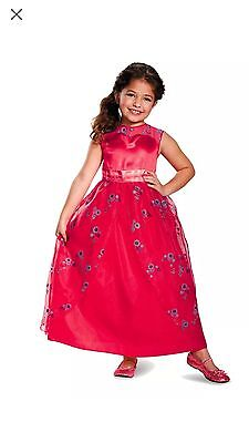 Disney Elena of Avalor Deluxe  Dress Costume 4/6 New Cold Play New