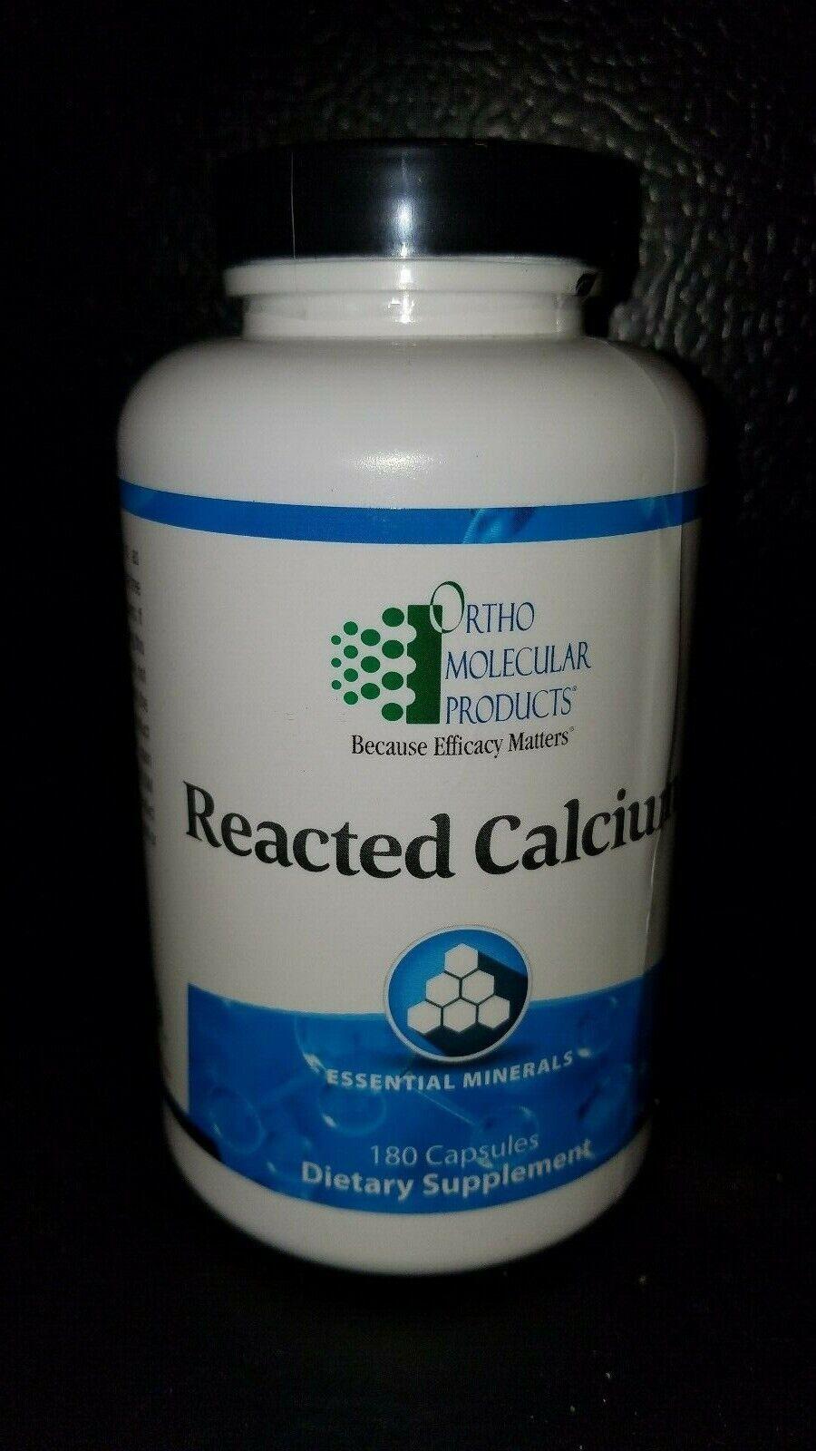 Ortho Molecular Reacted Calcium 180 caps,*EXP 03/22, Domestic Free Ship