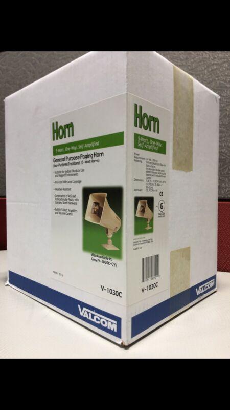 Valcom V1030c 5 Watt 1 Way Paging Horn (beige) (v-1030c)