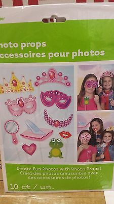 PRINCESS Photo Booth Props Set of 10 Princess Party  - Create Fun Photos!   - Photo Booth Fun Props