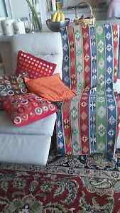 Lovely aztec print large throw and embroidered cushion covers East Victoria Park Victoria Park Area Preview