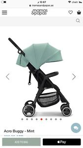 Mamas and papas travel stroller light green color