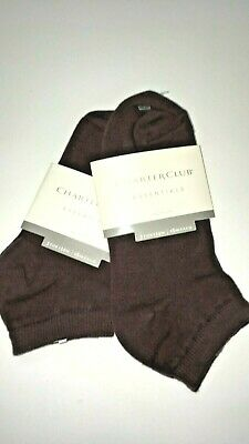 Charter Club Women's Essential Low Cut Socks Style 7104 Brown 2 Pair One Size Essential Low Cut