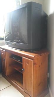 Corner TV unit with  CD storage including 56cm Panasonic  TV Angaston Barossa Area Preview