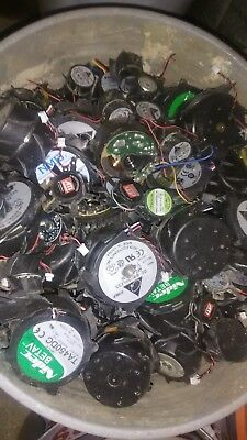 Electric Fan Motors. Scrap Copper Recovery - 20 Pound Lot -metal Junk