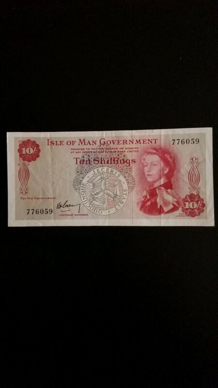 1961 Isle Of Man 10 Shillings