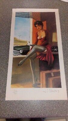 Ancienne reproduction BD signée tirage limité sur papier cartonné 29,5cm X 15,5