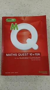 Maths Quest 10 + 10A 2nd Edition (**Free matching homework book) East Victoria Park Victoria Park Area Preview