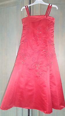 sehr schickes Blumenmädchenkleid in rot Mädchen Nr.8 ()