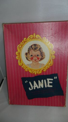 """JANIE""   UNCUT DOLL & CLOTHES   THE ALL-THE-WAY-ROUND CLOTHES   BOX FAIR  VTG"