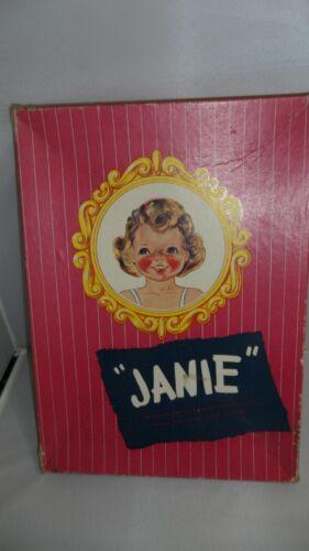 """JANIE""   UNCUT DOLL & CLOTHES   THE ALL-THE-WAY-ROUND CLOTHES   BOX FAIR  VTG"
