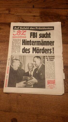 BZ Berliner Zeitung 27. Nov 1963 FBI sucht Hintermänner - Orginal