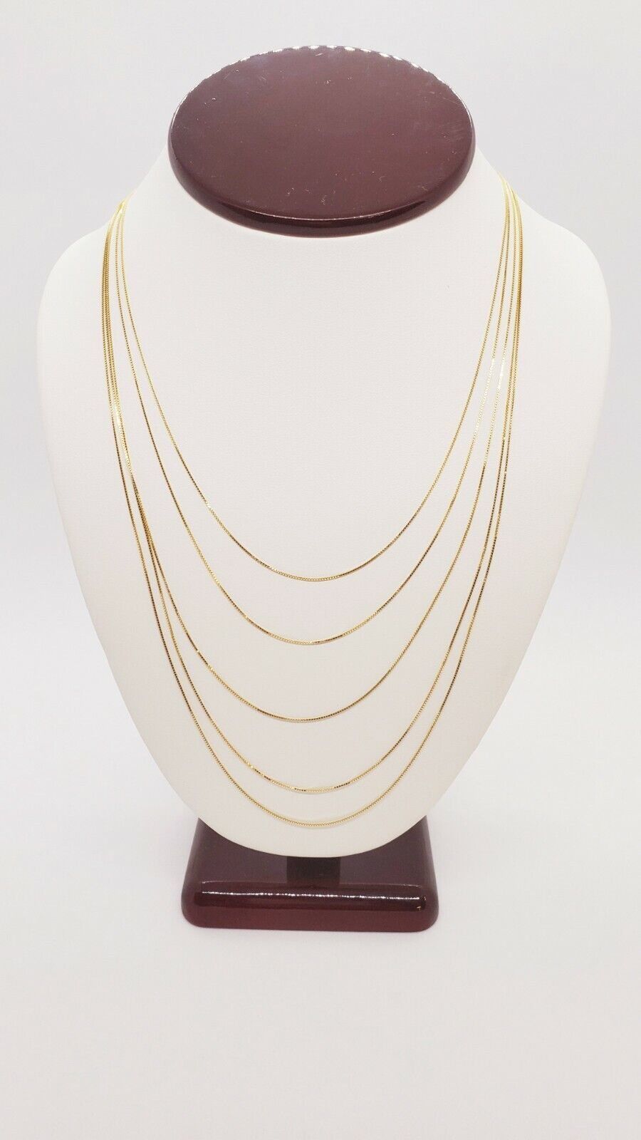 """10K Solid Yellow Gold Italian Box Chain Men's Women's Necklace 16"""" - 24"""" inches 5"""