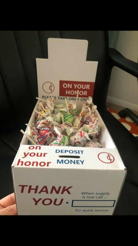 Charity Honor Boxes All Cash Vending Lollipops Candy 50 Boxes  Lolli . New!!