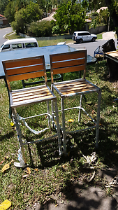 2 x outdoor high chairs Highland Park Gold Coast City Preview