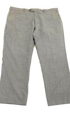 JB BRITCHES MEN'S TORINO PLAID LIGHT GREY DRESS PANTS SIZE 42R