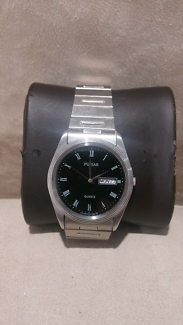 New Mens Boys Pulsar Seiko Stainless Steel Watch with Day Date