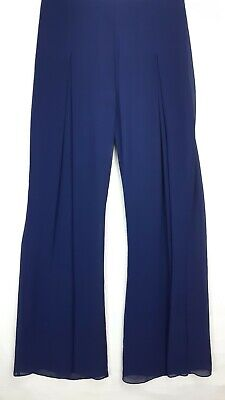 Jacques Vert Womens Wide Leg Trousers, Size 10, Navy, RRP £79, BNWT....