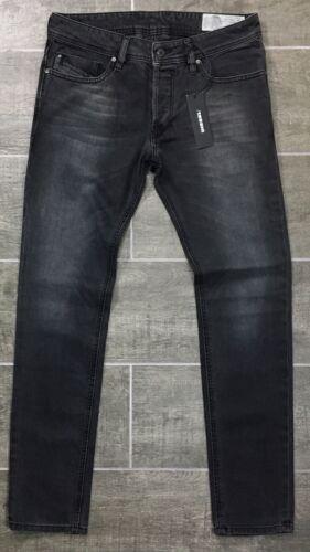 Diesel Men's TROXER Jeans Slim Skinny Wash RS028 Black Den