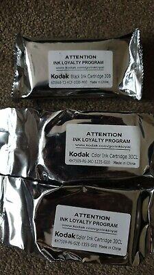 Kodak 30 Black & Colour x 2 Genuine Ink Cartridges - 30B & 30CL, 3 in total