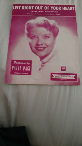 PATTI PAGE SHEET MUSIC - $35.00