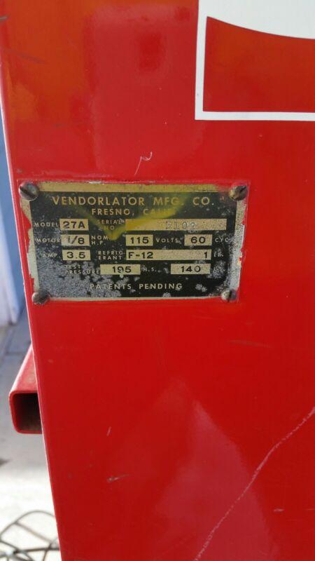Vintage Coca Cola Vending Machine Vendorlator Model VMC 27A