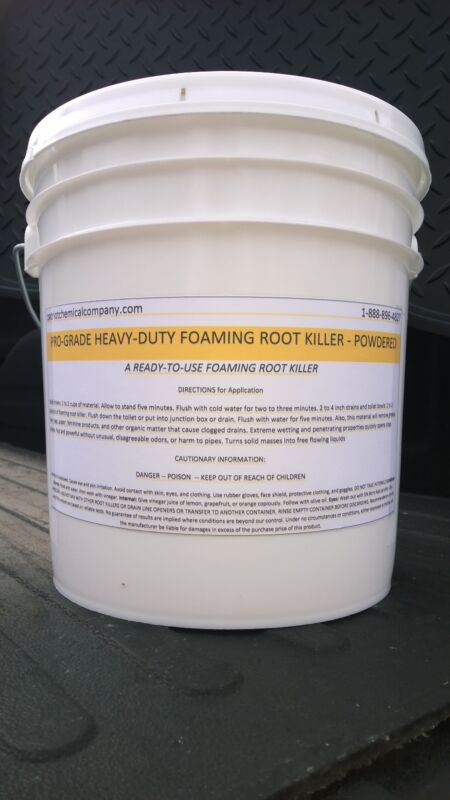FOAMING ROOT KILLER 25 LBS EASY TO USE NO MIXING PATRIOT CHEMICAL SALES