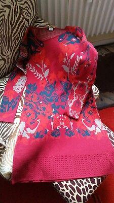 Strickkleid von Quiro, Farbe: rot mit Blumenmuster, Größe: 36, Neuwertig! online kaufen