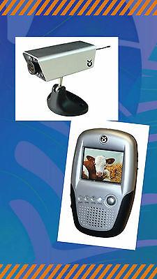 """Anhänger Kamera Set  2,4 GHz   2,5"""" Monitor Überwachungskamera 322080"""